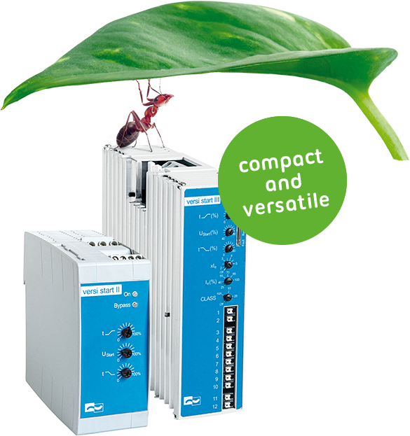 Soft Starter VersiStart III (9 - 45A) – The most compact 3-phase-controlled soft starter