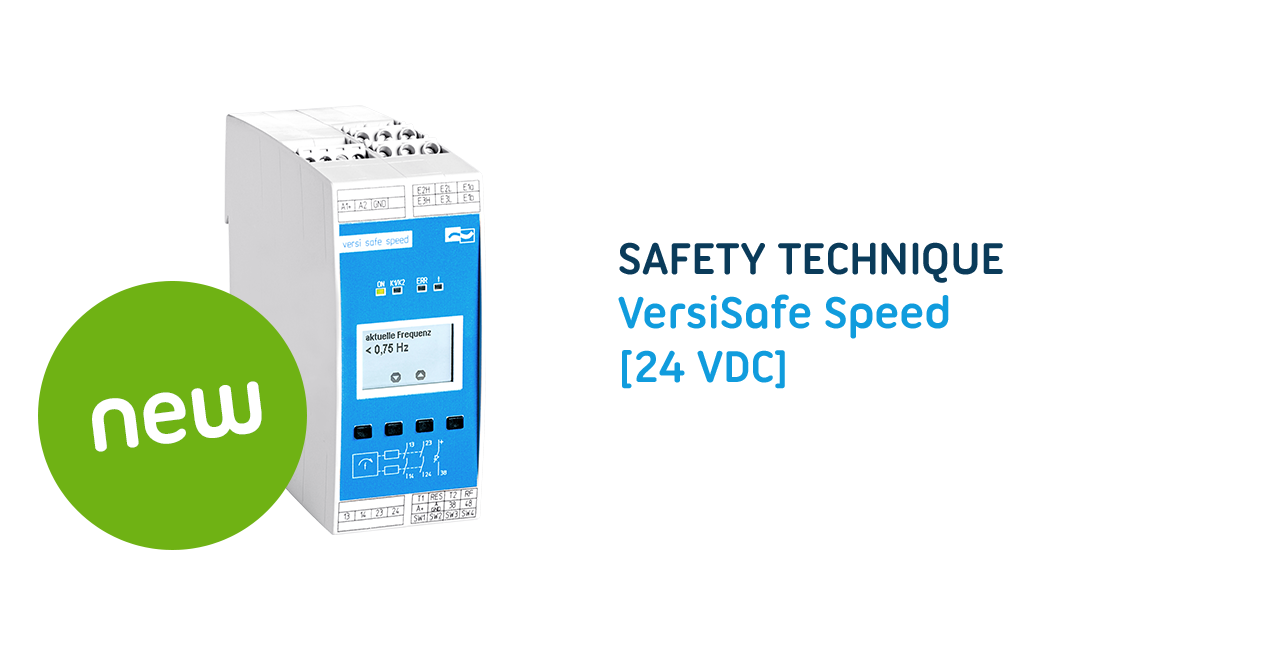 VersiDrive i E3/3E3 - Energy-saving speed control frequency converter with optional frequency monitoring unit for the secure control of electric motors