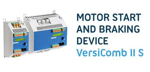 VersiComb II Safe combines a soft starter with an electronic direct-current braking device for woodworking machines and other applications