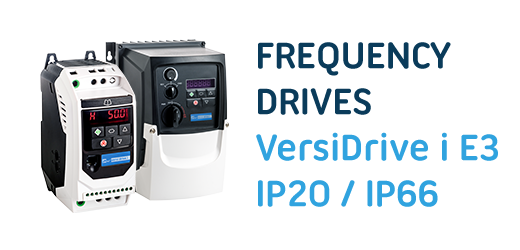 New VersiDrive i E3/3E3 and E3S Frequency Drives jump-start electric drives while saving energy