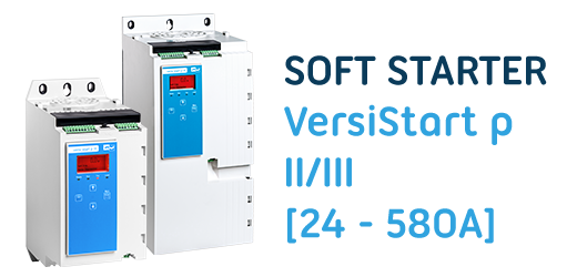 The new softstarter series VersiStart p II/III with smart card for more control have set new standards and have replaced the softstarter series VersiStart i II/III