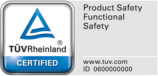 TÜV certification for VersiComb II Safe soft starter and braking device combination: Safety function requirements are 100% fulfilled