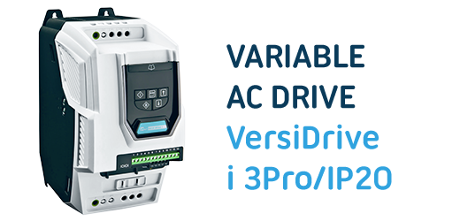 VersiDrive i 3Pro/IP20 - Compact variable AC drive for precise speed control