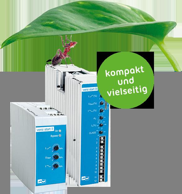 Softstarter VersiStart III (9 - 45A) – das kompakteste dreiphasengesteuerte Sanftanlaufgerät