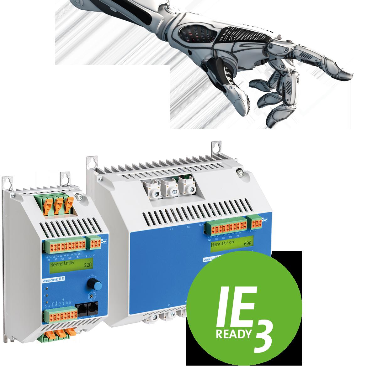 VersiComb II Safe kombiniert Sanftanlauf mit elektronischem Gleichstrom-Bremsgerät für Holzbearbeitungsmaschinen und weitere Anwendungen