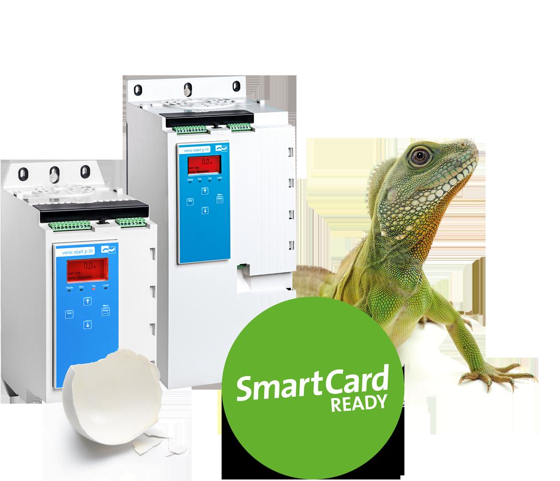 Die neue Softstarter Serie VersiStart p II/III mit Smart Card für mehr Kontrolle setzt neue Standards und ersetzt ab sofort die Softstarter Serie VersiStart i II/III